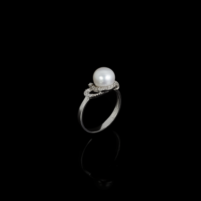 Yeux Ring | Fresh Water Pearl | 18K White Gold