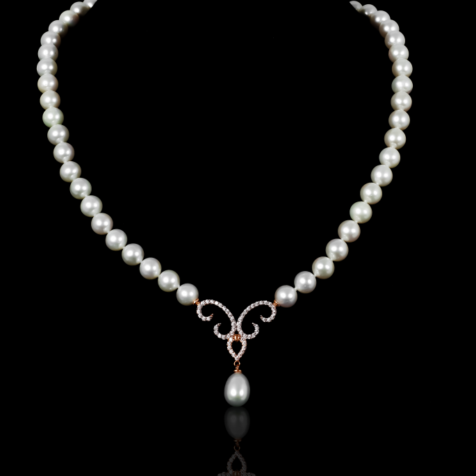 Piques Necklace | Fresh Water Pearls | 18K Rose Gold