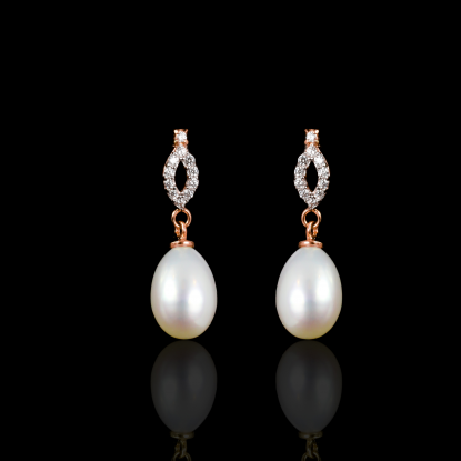 Déchirer Earrings | Fresh Water Pearl | 18K Rose Gold
