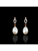 Déchirer Earrings   Fresh Water Pearl   18K Rose Gold