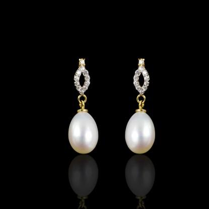 Déchirer Earrings | Fresh Water Pearl | 18K Gold