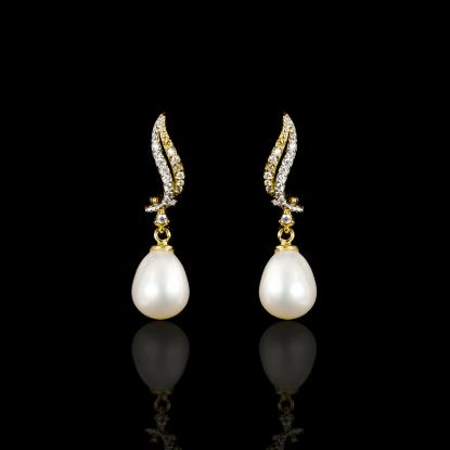 Sirène Earrings| Fresh Water Pearl | 18K Gold