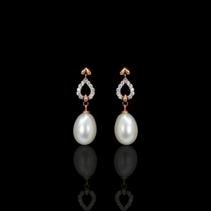 Piques Earrings | Fresh Water Pearls | 18K Rose Gold