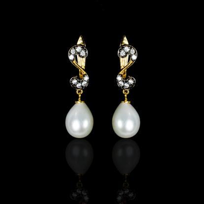 Nuit Noir Earrings | Fresh Water Pearl | 18K Gold