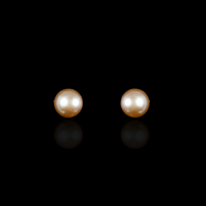 Signature Rose Earrings | Fresh Water Pearl | 18K Gold