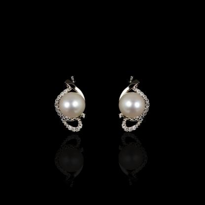 Yeux Earrings | Fresh Water Pearl |18K White Gold