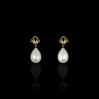 Reine de l'océan Earrings | Fresh Water Pearls |14K Gold