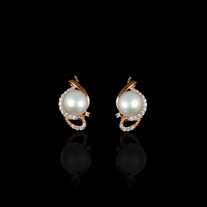 Yeux Earrings | Fresh Water Pearl | 18K Rose Gold
