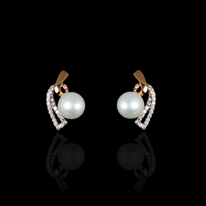 Demicoeur Earring | Fresh Water Pearl | 18K Rose Gold