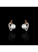 Demicoeur Earrings | Fresh Water Pearl | 18K Rose Gold
