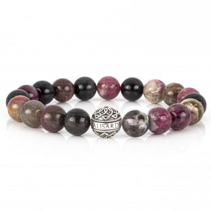Tourmaline Beaded Bracelet | Sterling Silver Bead | Multicolored Gemstones