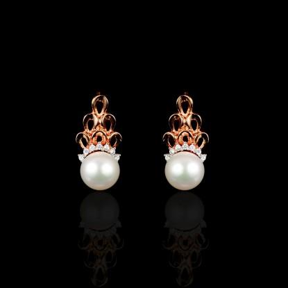 Nuit Noire Earrings | Fresh Water Pearl | 18K Rose Gold