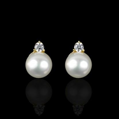 Fleurs Earrings | Fresh Water Pearls | 18K Gold
