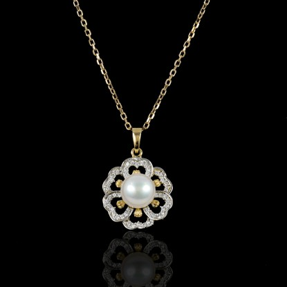 Printemps Necklace | Fresh Water Pearl | 18K Gold