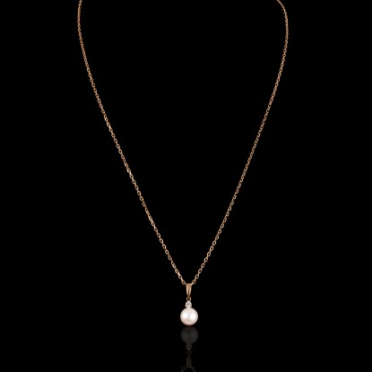 Cadeau Necklace | Fresh Water Pearls | Rose Gold 18K