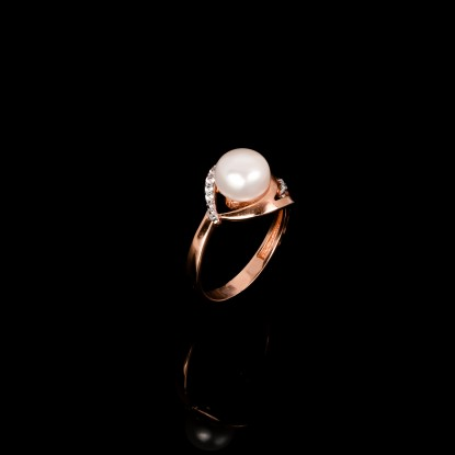 Paris Ring | Fresh Water Pearl | 18K Rose GoldCatalog Products