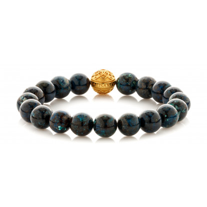 Chrysocolla Single Gold Touch