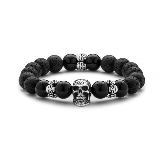 Skull Obsession Black Onyx & Lava