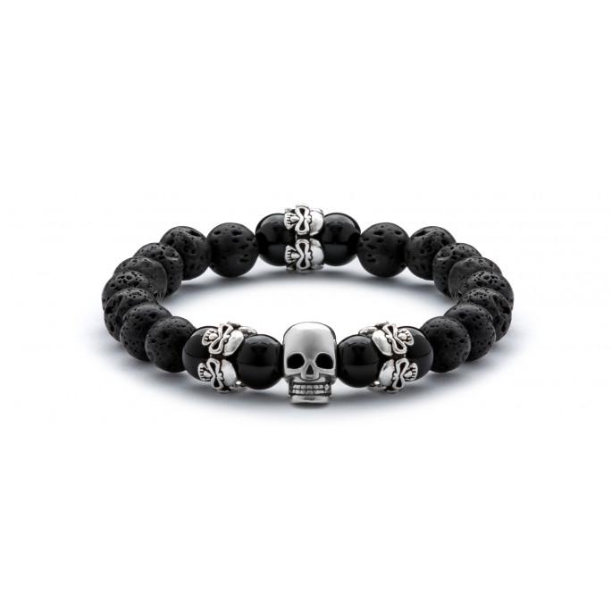 Skull Obsession Lava & Black Onyx
