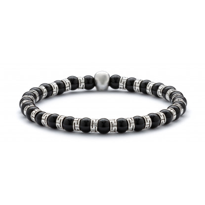 Skull Obsession Deep Black Onyx & Silver