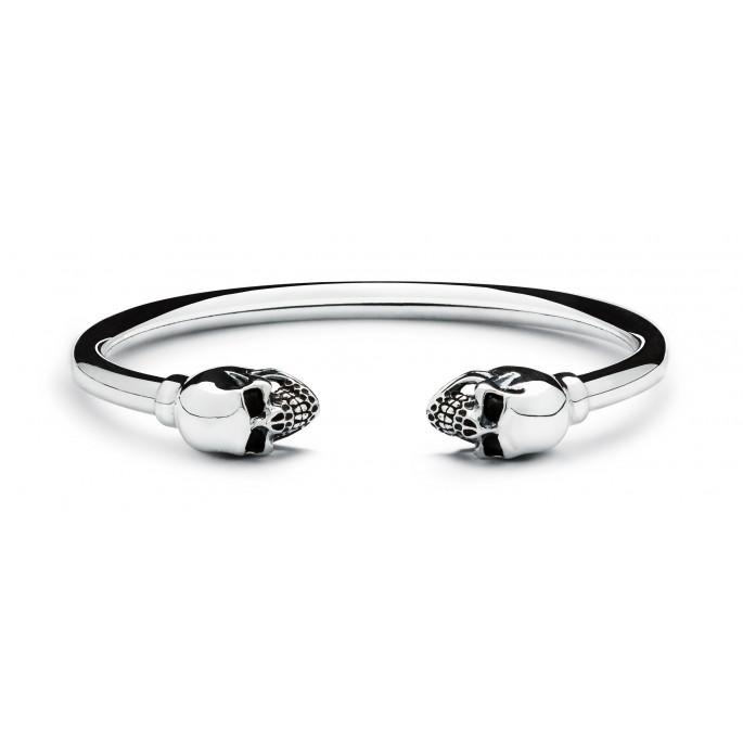 Skull Obsession Silver Bracelet