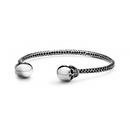 Skull Obsession Single Silver Power Bracelet