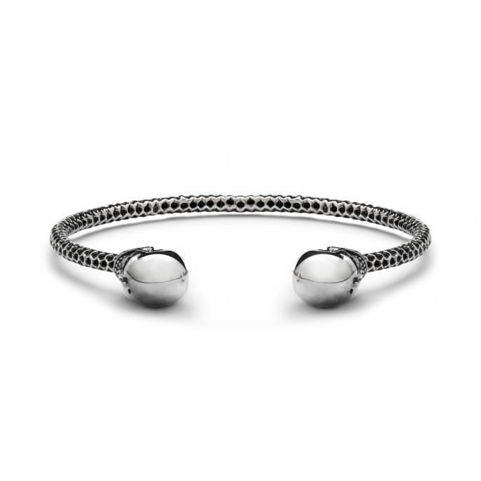 Skull Obsession Single Silver Power Bracelet