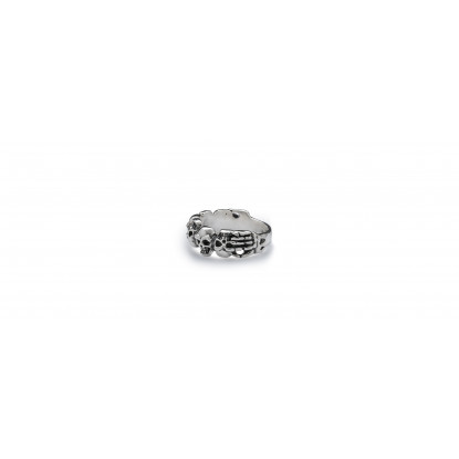 Skull Obsession Silver Power Ring