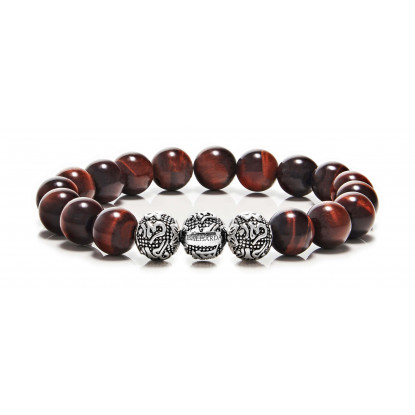 Red Tiger Eye 3 beads