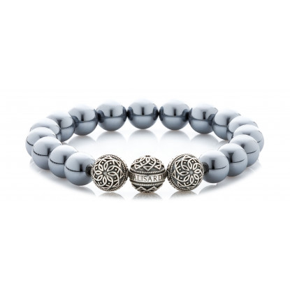 Terahertz Beaded Bracelet | Triple Sterling Silver Beads | Irony Gemstones