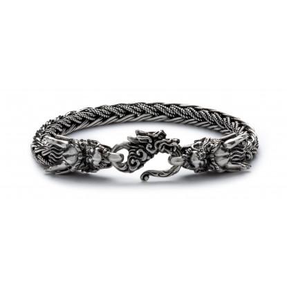 Men's Sterling Silver Dragon Lock Bracelet