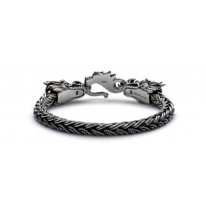 The Guardians Viserion Silver Bracelet