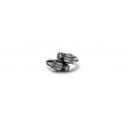 Men's Double Dragon Sterling Silver Ring