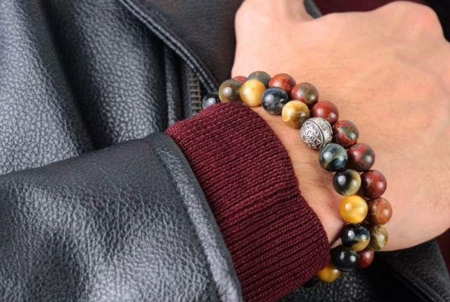 The coolest 10 semi-precious beaded bracelets of the fall for all types of men